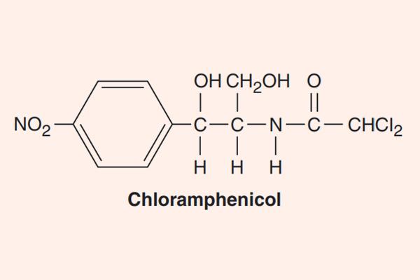 Cấu trúc hóa học của Chloramphenicol