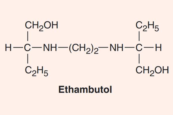 Cấu trúc hóa học của Ethambutol