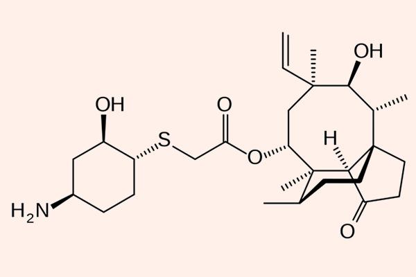 Cấu trúc hóa học của Lefamulin