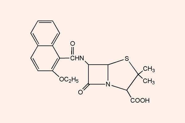 Cấu trúc hóa học của Nafcillin