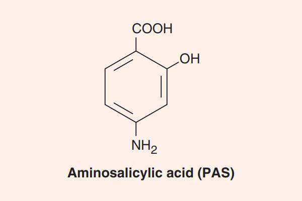 Cấu trúc hóa học của PAS