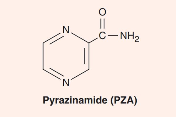 Cấu trúc hóa học của Pyrazinamide