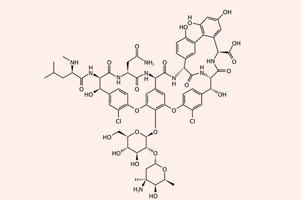 Cấu trúc hóa học của Vancomycin