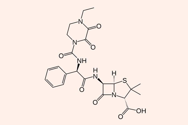Cấu trúc hóa học của Piperacillin.
