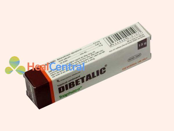 Hình ảnh hộp thuốc Dibetalic