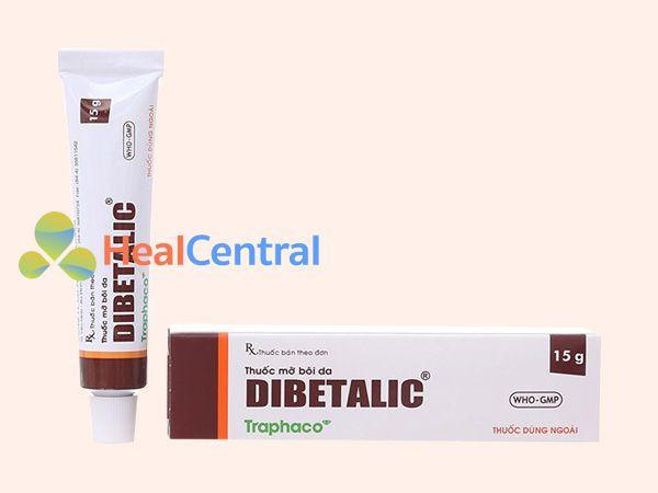 Hình ảnh tuýp thuốc Dibetalic
