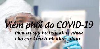 Viêm phổi do COVID-19: Điều trị suy hô hấp khác nhau cho các kiểu hình khác nhau