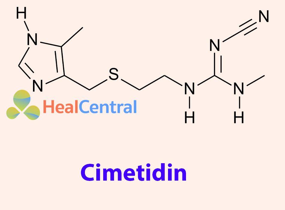 Công thức hóa học của Cimetidin
