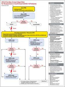 Hình 3. Thuật toán hỗ trợ sự sống nâng cao cho bệnh nhân ngừng tim nghi ngờ hoặc xác nhận mắc bệnh coronavirus 2019 (COVID-19).