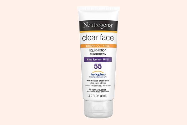Kem Chống Nắng Neutrogena Clear Face SPF 55+++