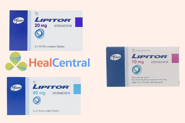 Các dạng hàm lượng thuốc Lipitor