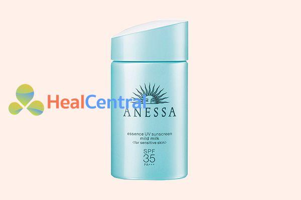 Sữa Chống Nắng Anessa Dành Cho Da Nhạy Cảm Essence UV Sunscreen Mild Milk SPF 35/ PA+++ 60ml.