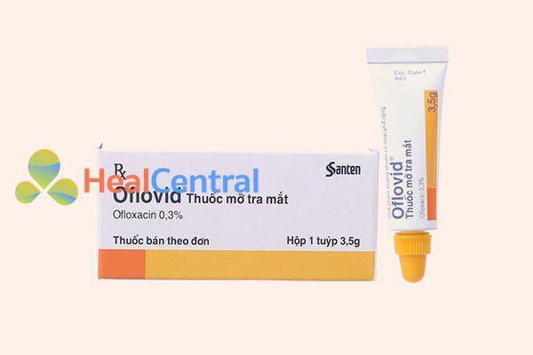 Thuốc mỡ tra mắt Oflovid 0.3%