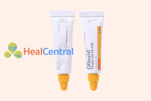Hình ảnh: Thuốc mỡ tra mắt Oflovid 0.3% tuýp 3.5g