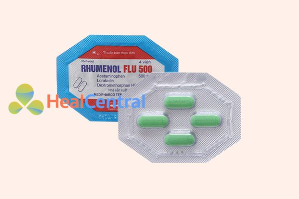 Hình ảnh: Thuốc Rhumenol Flu 500 vỉ 4 viên