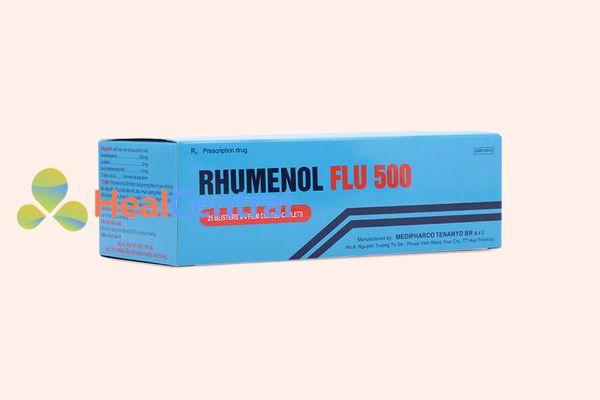 Hình ảnh: Hộp thuốc Rhumenol Flu 500