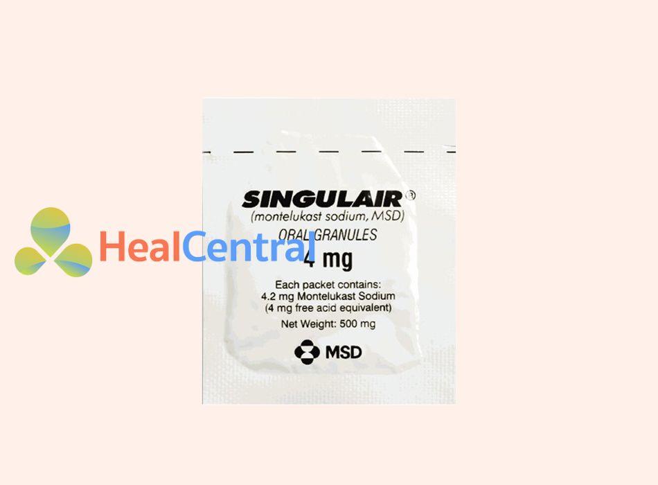 Hình ảnh: Gói thuốc Singulair 4mg