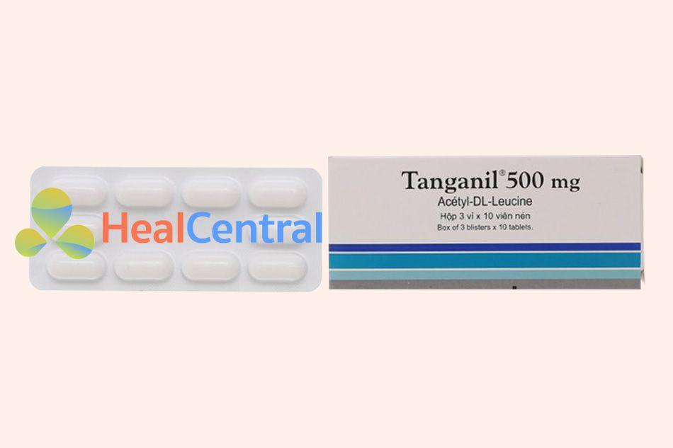 Mặt trước vỉ thuốc Tanganil