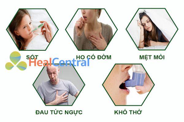 Triệu chứng viêm phế quản cấp.