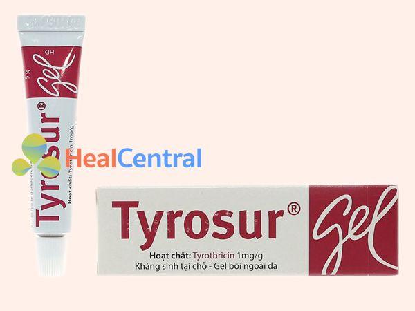 Hình ảnh mặt trước thuốc Tyrosur Gel