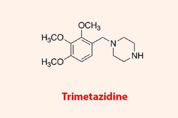 Công thức hóa học của Trimetazidine