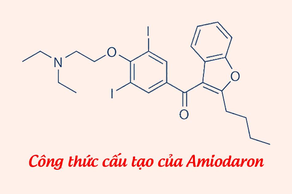 Công thức cấu tạo của Amiodaron