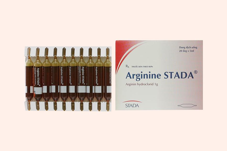 Hình ảnh ống thuốc Arginine