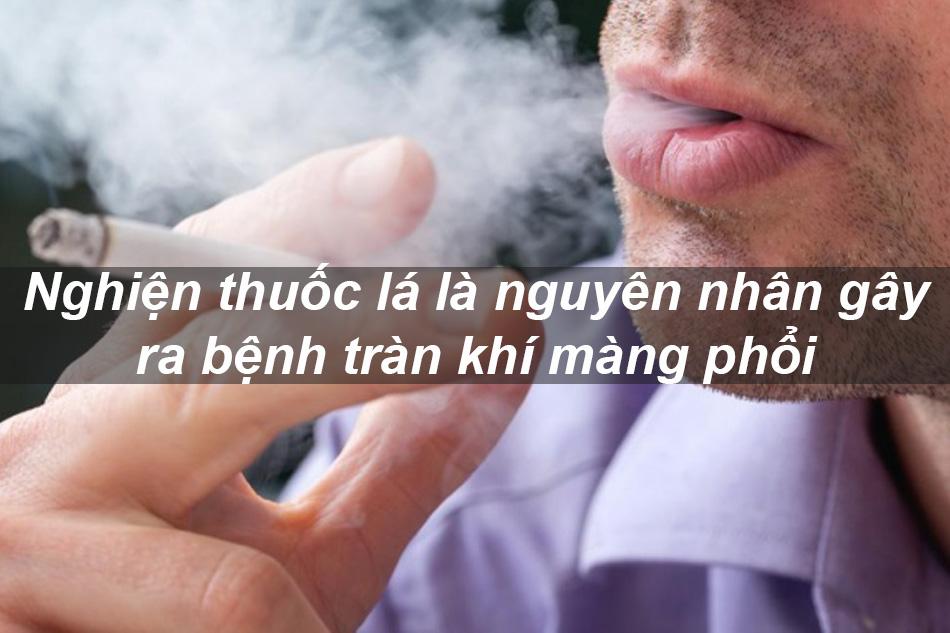 Người nghiện hút thuốc lá có nguy cơ bị bệnh tràn khí màng phổi