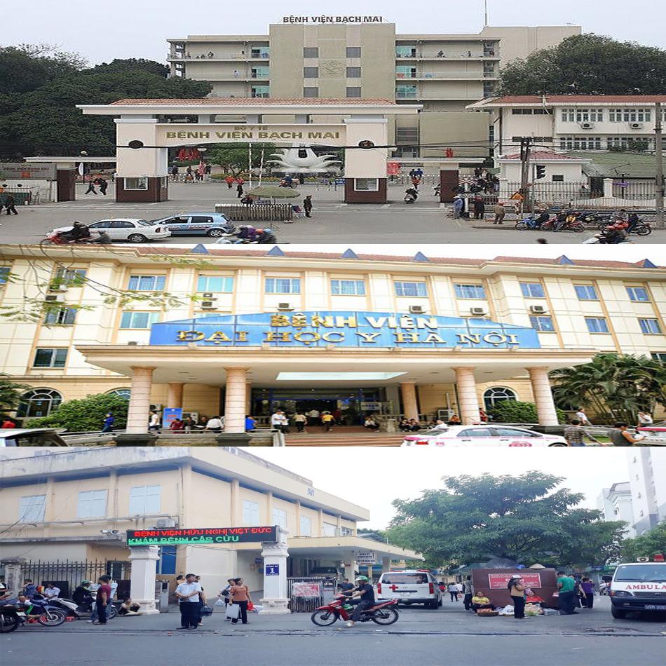 Hình ảnh một số bệnh viện điều trị uy tín ở HN