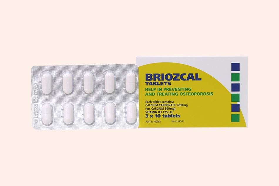 Hình ảnh vỉ thuốc Briozcal