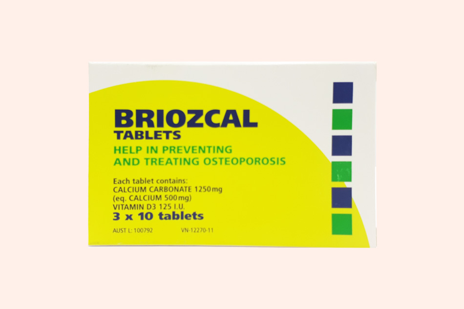Thuốc Briozcal bào chế dạng viên nén