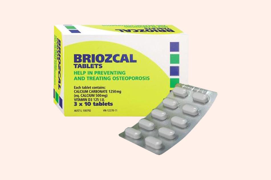 Thuốc Briozcal bổ sung canxi và vitamin D
