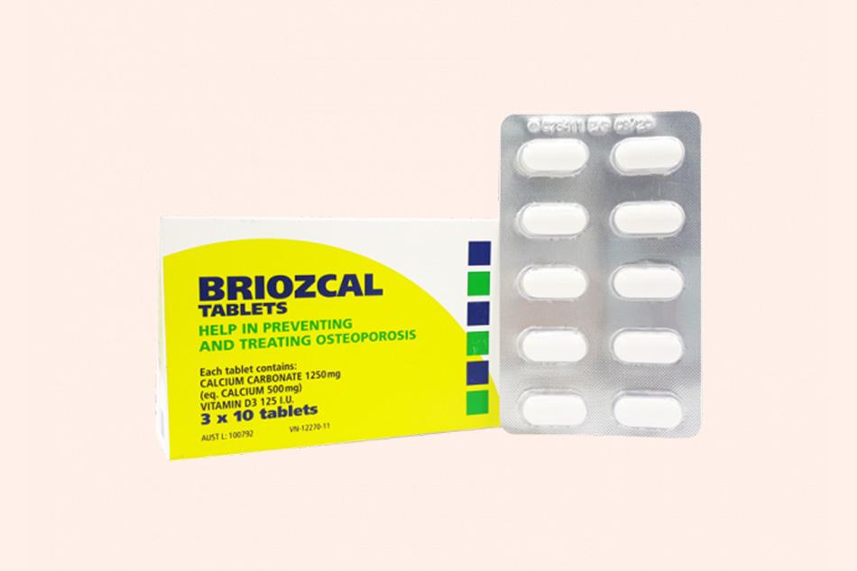Thuốc Briozcal phòng ngừa loãng xương