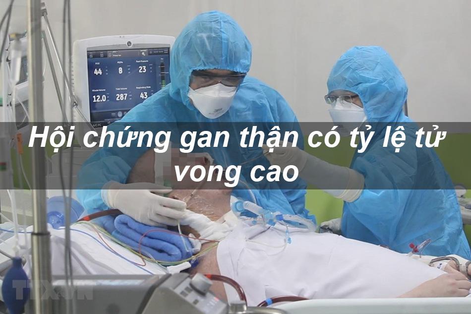 Hội chứng gan thận có tỷ lệ tử vong cao