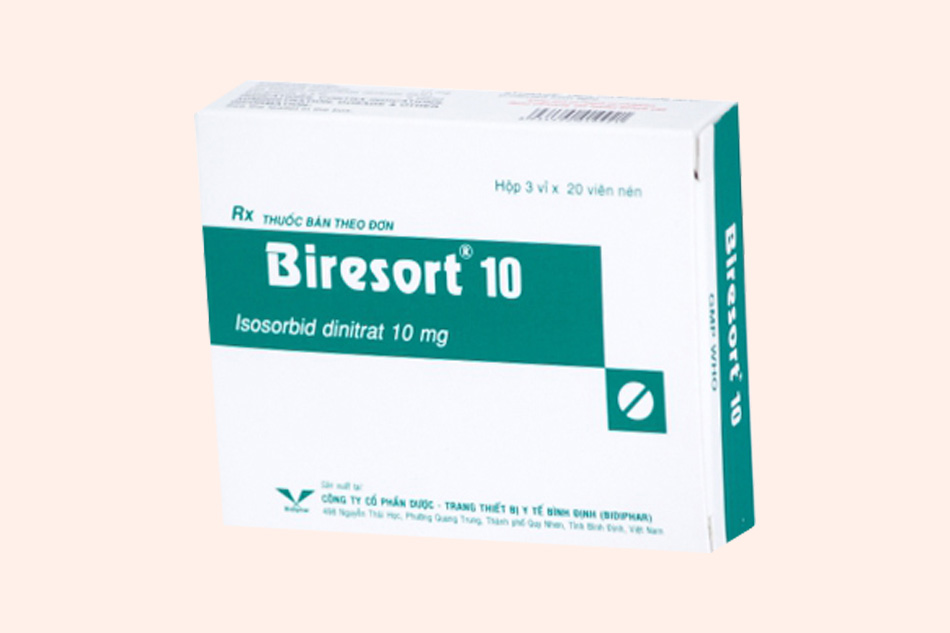 Thuốc Isosorbid với tên biệt dược là Biresort