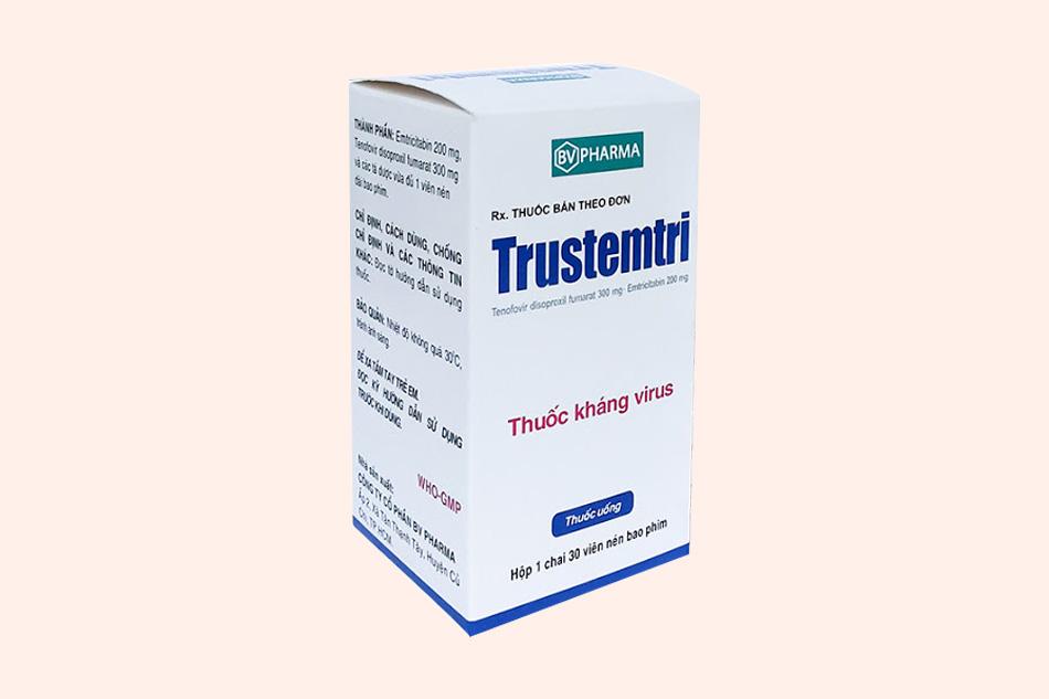 Hộp thuốc Trustemtri dạng lọ