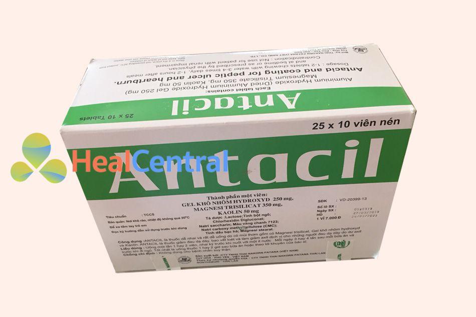 Hình ảnh hộp thuốc Antacil