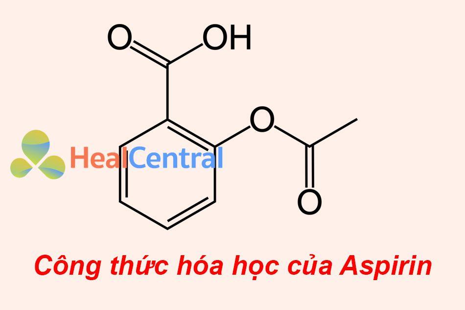 Công thức hóa học của Aspirin