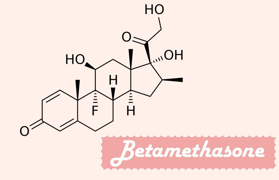 Công thức hóa học của Betamethasone