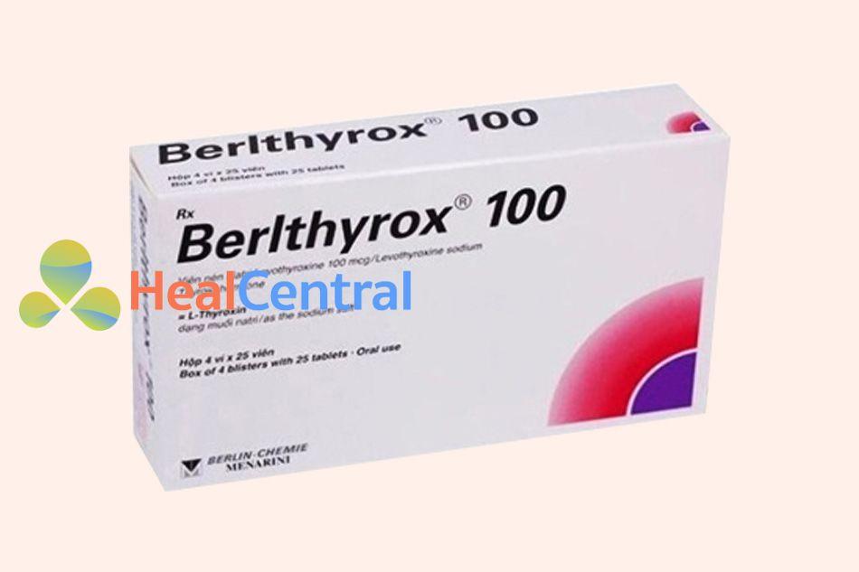 Hình ảnh hộp thuốc Berlthyrox 100