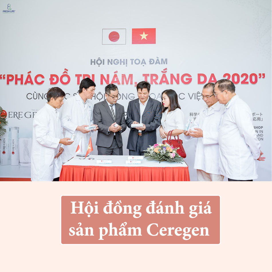 Hội đồng Khoa học Việt - Nhật đánh giá cao hiệu quả làm trắng da, trị nám của Ceregen