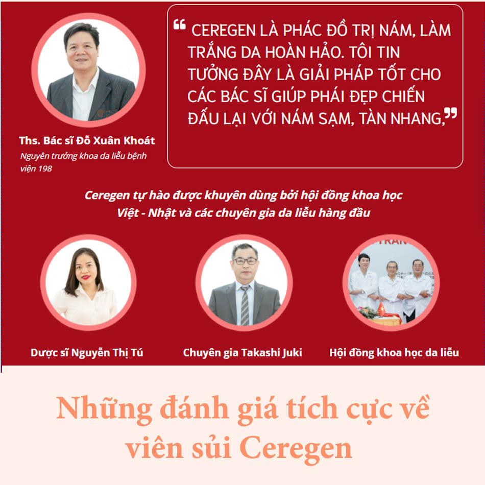 Dược sĩ Nguyễn Thị Tú - tin tưởng hiệu quả sản phẩm viên sủi Ceregen