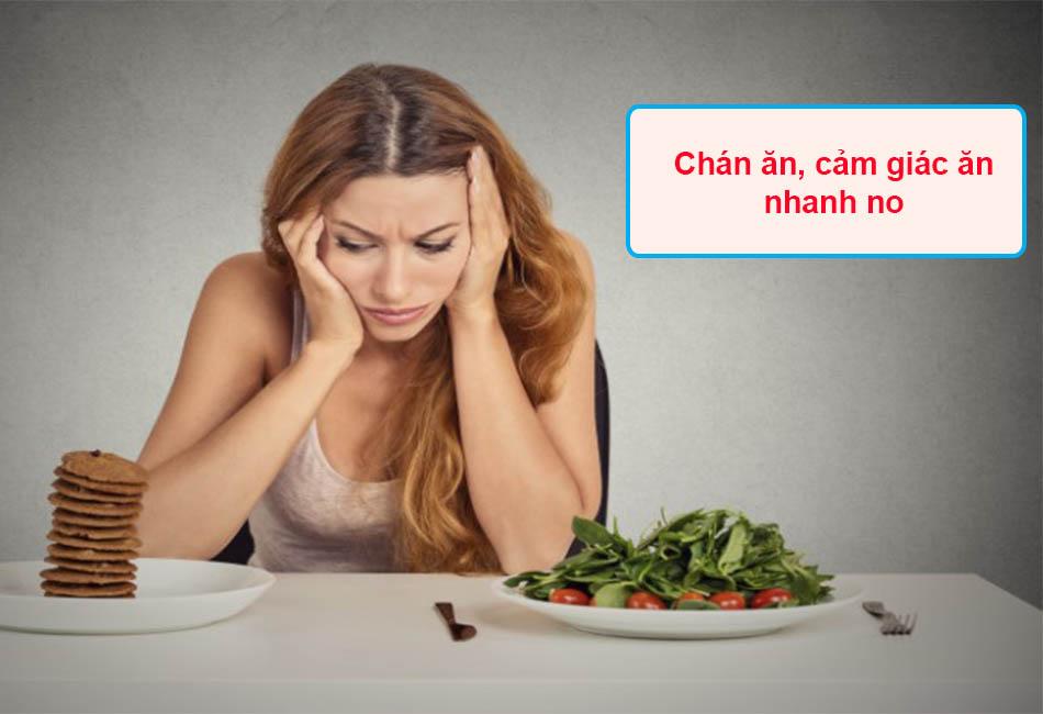 Chán ăn, cảm giác ăn nhanh no