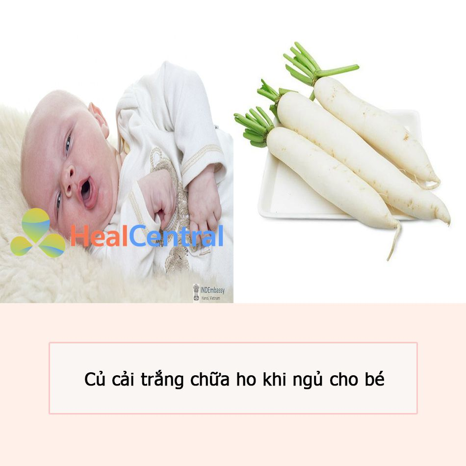Củ cải trắng chữa ho khi ngủ cho bé
