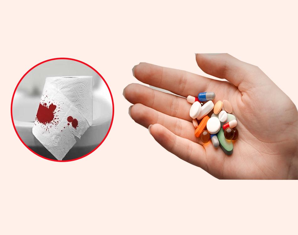 Sử dụng thuốc điều trị chứng đi ngoài ra máu