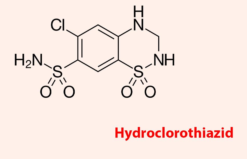 Công thức hóa học của Hydroclorothiazid