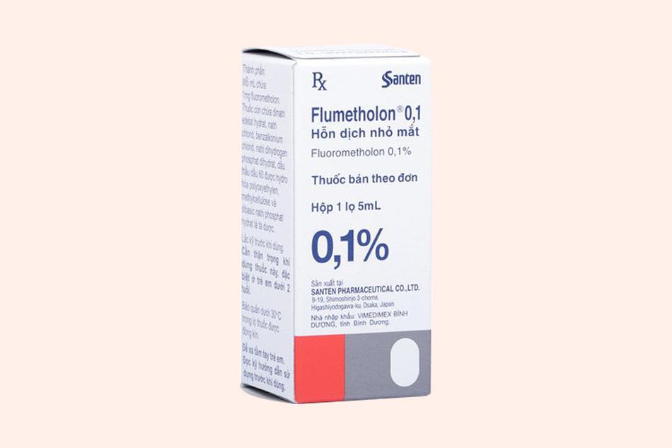 Hình ảnh hộp thuốc Flumetholon 0.1%