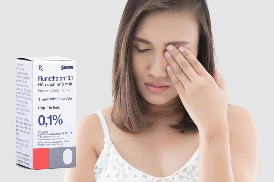 Flumetholon 0.1% điều trị viêm kết mạc