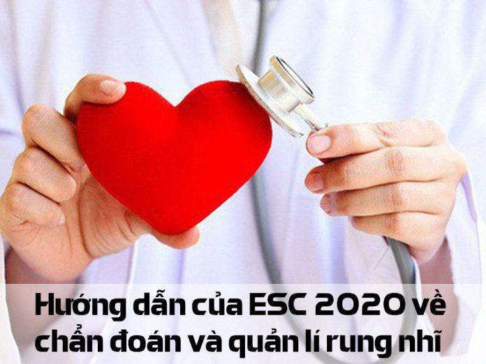 Hướng dẫn của ESC 2020 về chẩn đoán và quản lí rung nhĩ