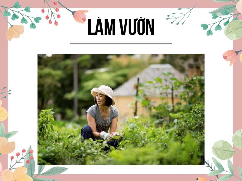 Làm vườn là biện pháp tăng cường sức khỏe xương khớp